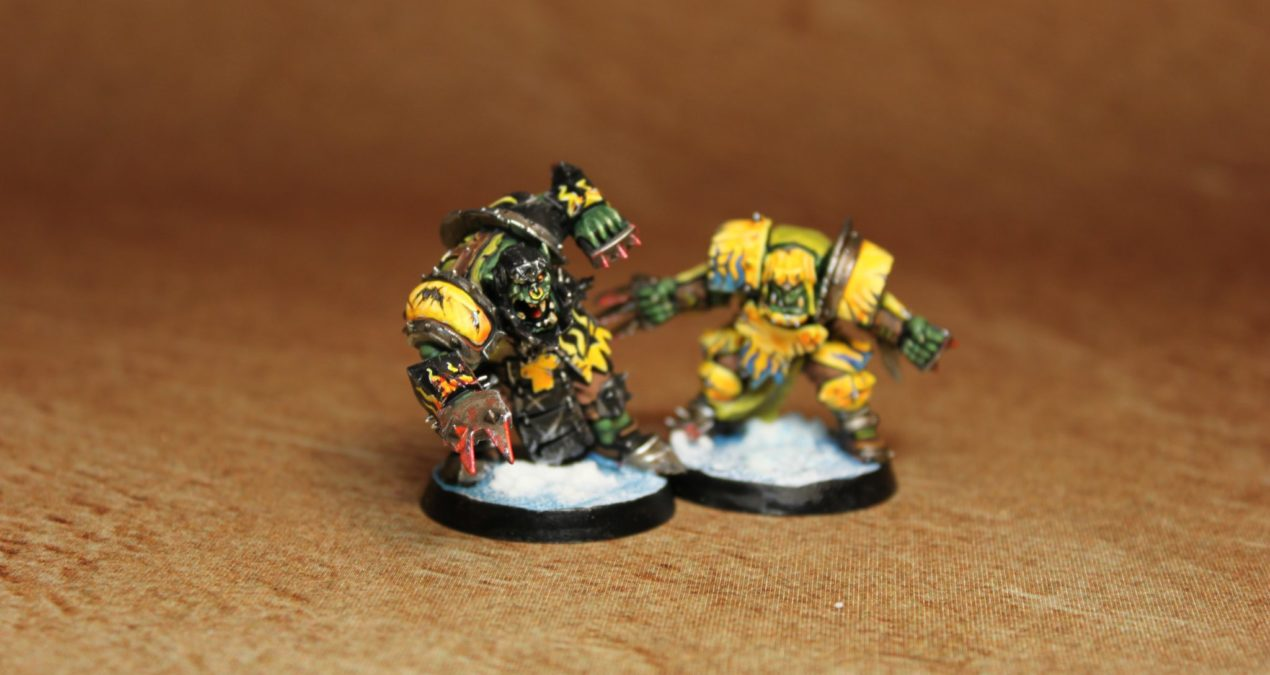Blood Bowl: Boarmondsey Razortusks: Line Ork and Black Ork pics and videos