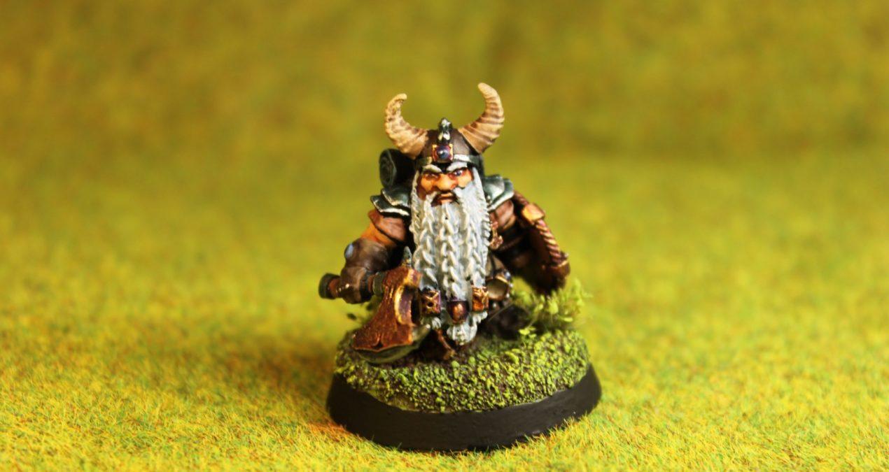 Dungeons & Dragons – Dwarves – Male Dwarf Fighter (Dain Deepaxe – Reaper Miniatures)