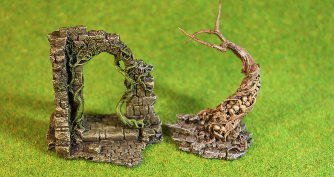 Dungeons & Dragons – The Sentinel and Arch of Ivy scenery pieces from Black Sun Miniatures