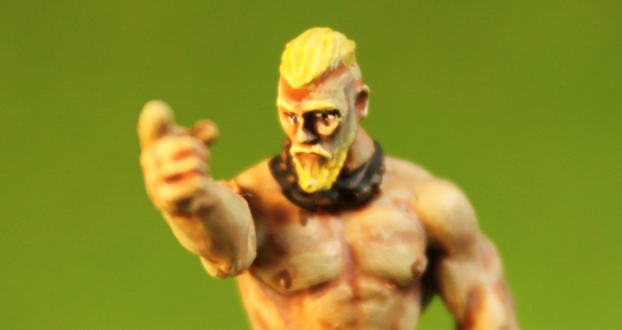 Dungeons & Dragons – Techno Viking (made out of several Hasslefree Miniatures)