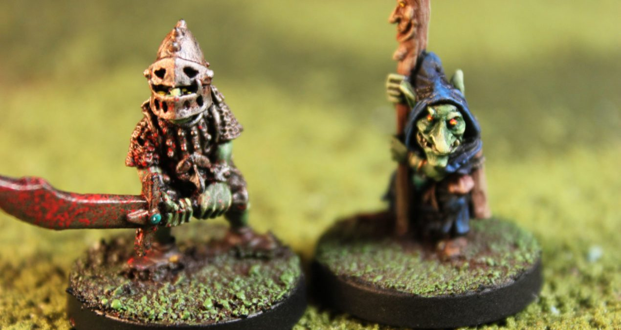 Dungeons & Dragons – Hero Goblin with Armour and Doom Goblin Shaman (Knightmare Miniatures)