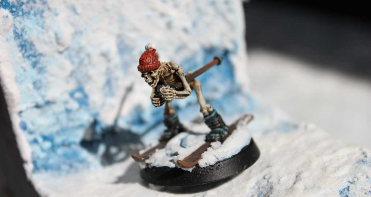 Dungeons & Dragons – Skiing Skeleton (Otherworld Miniatures)
