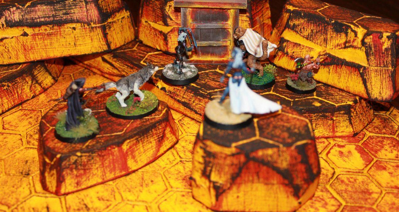 Dungeons & Dragons – Gaming board set 5 – Lava Inferno