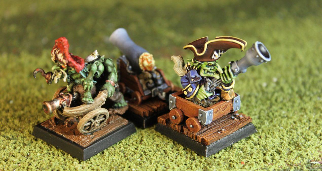 Dungeons & Dragons – Goblin Pirate Captain Ulgat (Freebooter Miniatures) and Goblin Buccaneer (Rackham)