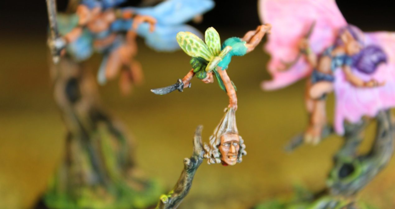 Dungeons & Dragons – Fairy Huntress (Darksword Miniatures) & Fairies (Firestorm Games)