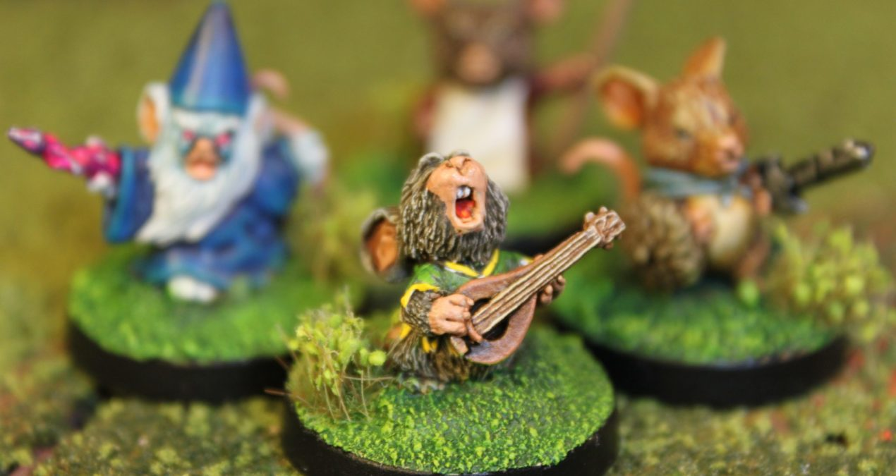 Dungeons & Dragons – Mousling Wizard, Bard, Monk and Fighter (Reaper Miniatures)