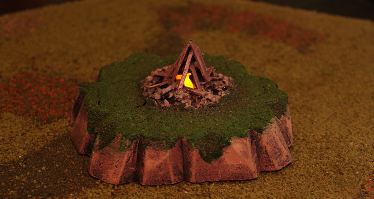 Dungeons & Dragons – Scenery scatter using tea lights