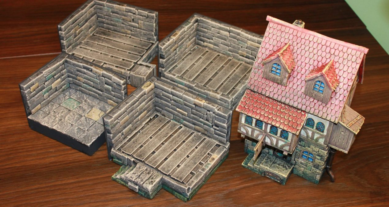 Dungeons & Dragons – Dungeons & Dollhouses: Floorboards and mini displays for the Medieval Tavern
