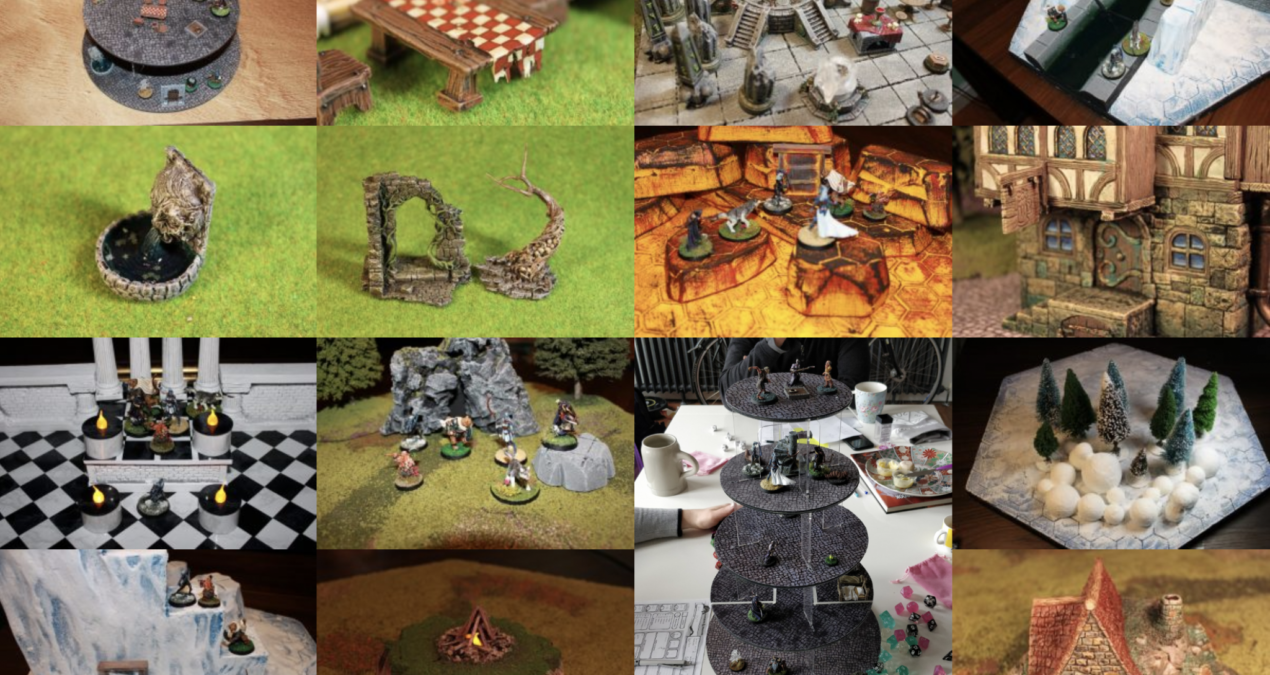 Dungeons & Dragons MEGA POST – My 2018 terrain boards and scatter!