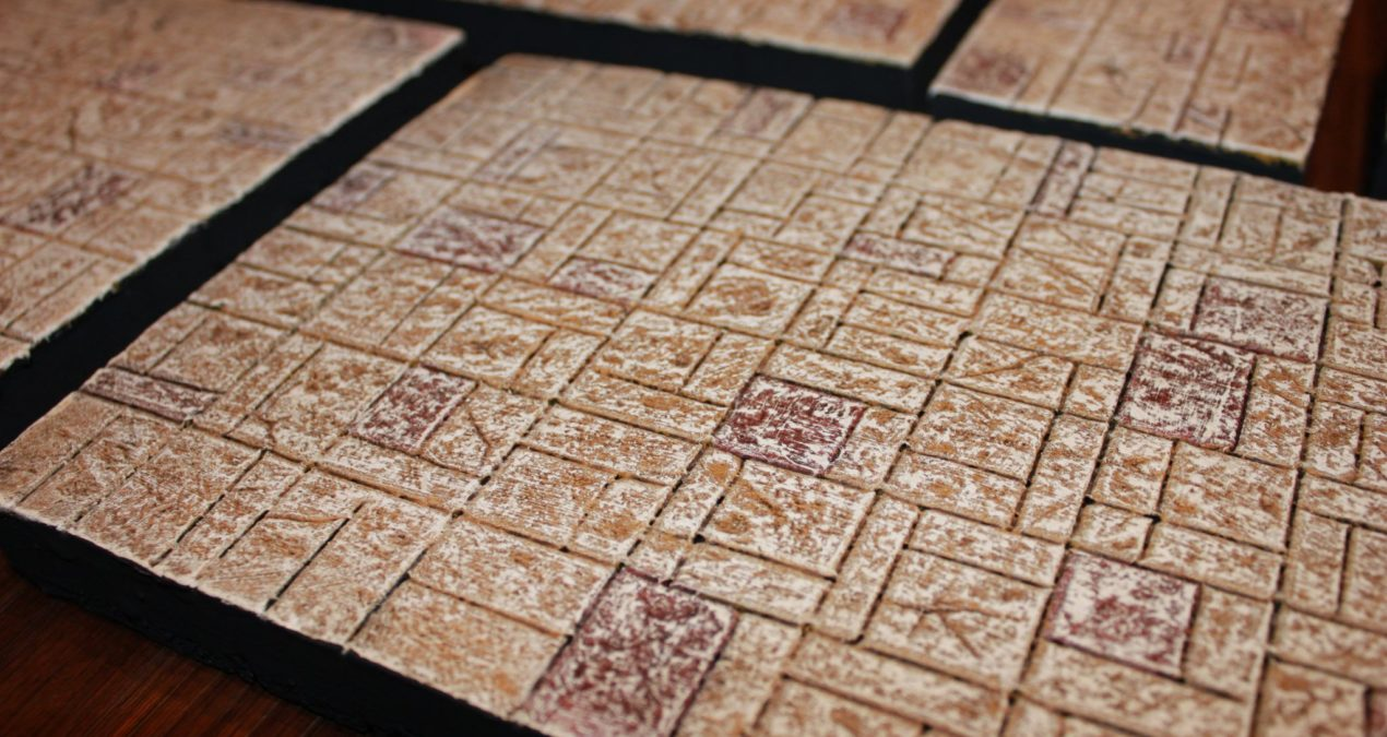 Dungeons & Dragons – Homemade dungeon tiles