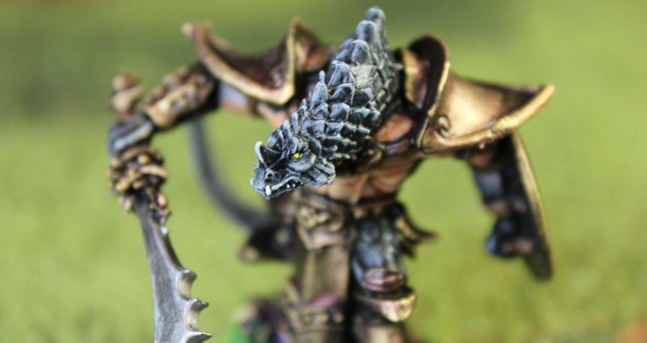 Dungeons & Dragons – Kar'Drakir, Reptus Dragonman Warrior (Reaper Miniatures)