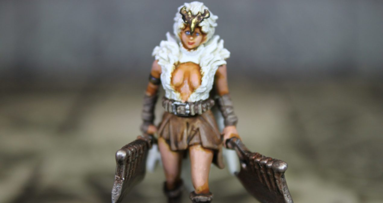 Kingdom Death: Monster – Survivor with two Butcher Cleavers