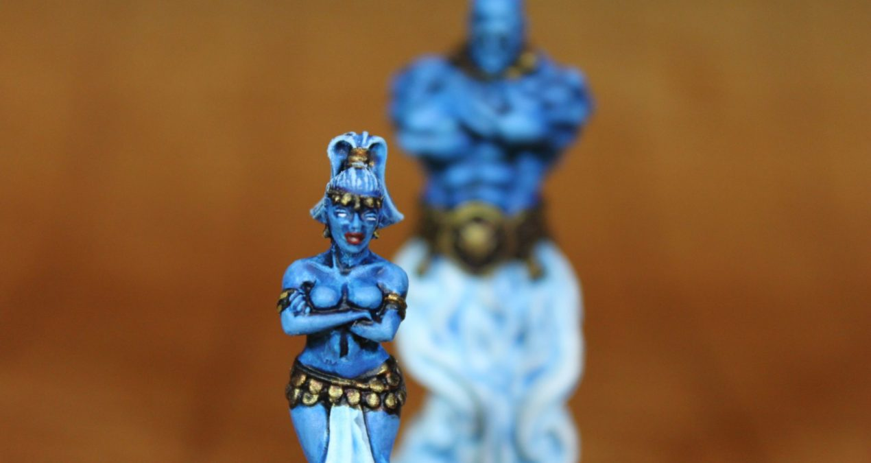Dungeons & Dragons – Djinn couple (Male from Zealot Miniatures and Female from Brother Vinni)