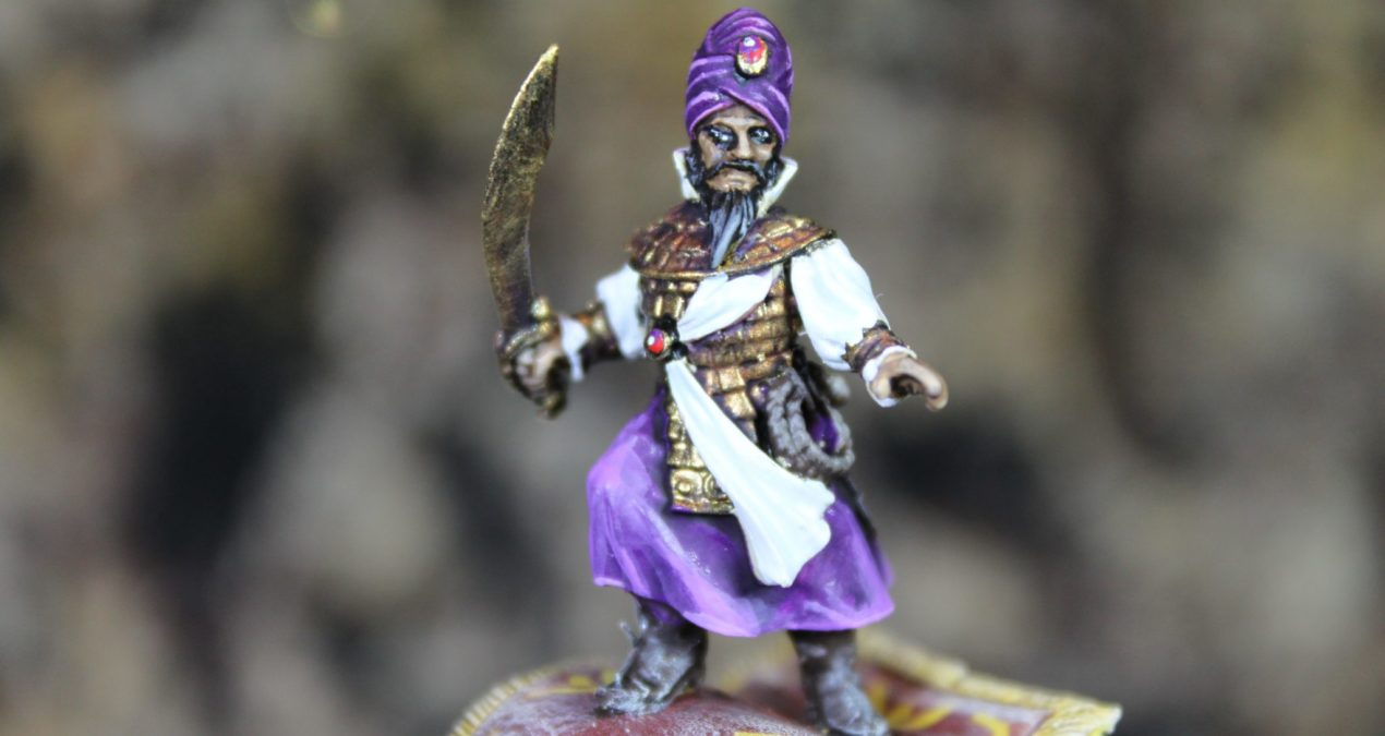 Dungeons & Dragons – Arabic Warrior on Flying Carpet. (Brother Vinni's Miniatures)