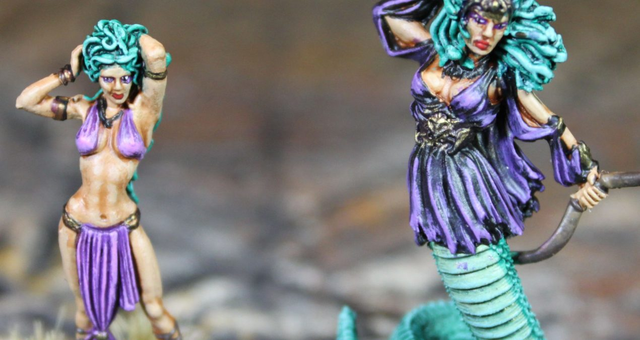 Dungeons & Dragons – The Medusa and  Gorgon with Bow (Darksword Miniatures)
