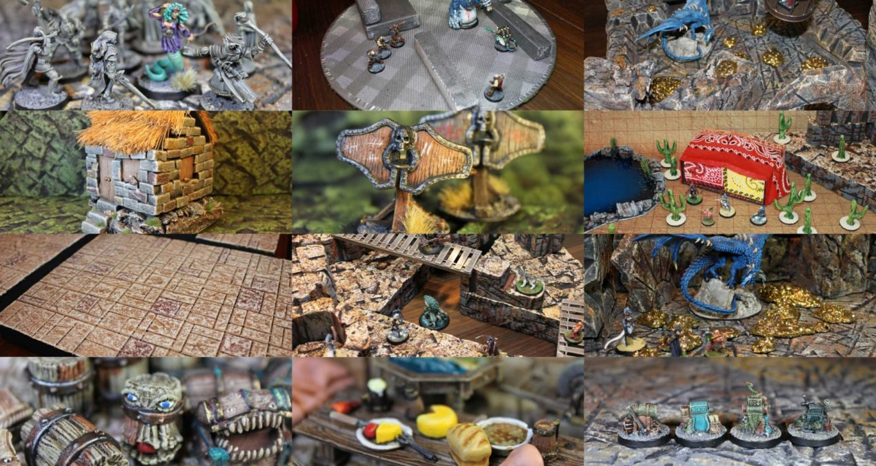 Dungeons & Dragons MEGA POST – My 2019 terrain boards and scatter!