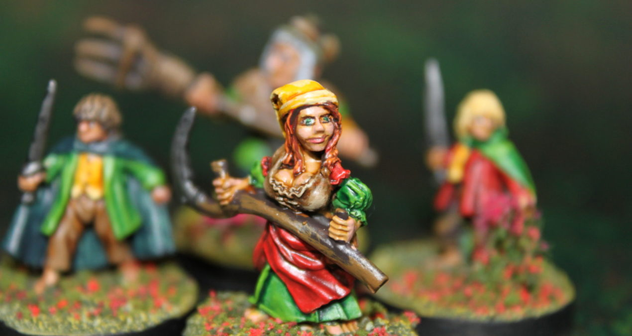 Dungeons & Dragons – Halflings and Hobbits (Reaper Miniatures and Games Workshop)